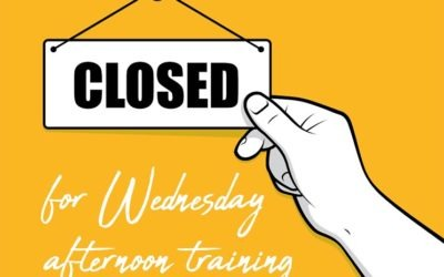 Closed for training from midday Wednesday 29 July